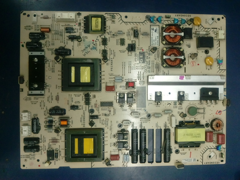 Sony Model No:KDL-40EX520 POWER BOARD-GE3 Part No: APS-285 Other Part No:1-883-804-21